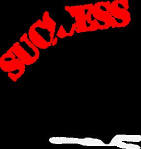 man kicking away success