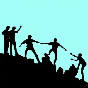 people helping each other to help their well-being