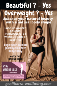 overweight woman wishing for natural weight loss